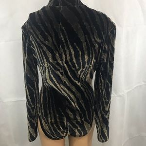 Paola Sandinista Tops - BODYSUIT sz Large long sleeve high neck collar.